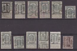 België/Belgique  Preo  Handrol/roulette Samenstelling/composition 12 Zegels/timbres. Tussen/entre N° 48B - 2464B. - Préoblitérés