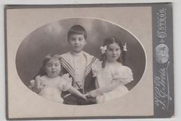 RARE PHOTO RUSSIE 1906 / PORTRAIT D'ENFANTS - SUPPORT CARTON FORMAT 17X11 - Lieux