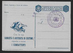 ITALIE - Carte De Franchise Militaire - 1900-44 Vittorio Emanuele III