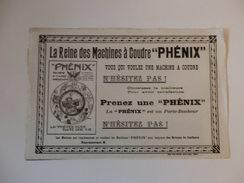 """Buvard La Reine De La Machine à Coudre """"Phénix"""". - Buvards, Protège-cahiers Illustrés"""