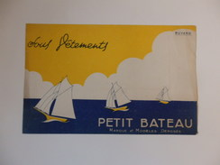 "Buvard Sous Vêtements ""petit Bâteau"". - Buvards, Protège-cahiers Illustrés"