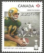 Sc. #2570 CFL Grey Cup Edmonton Eskimos Booklet Used 2012 K797 - 1952-.... Règne D'Elizabeth II