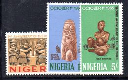 T930 - NIGERIA 1965 , Serie Yvert N. 174/176  ***  MNH - Nigeria (1961-...)