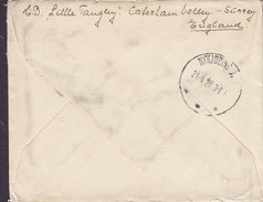 Great Britain CATERHAM VALLEY Surrey 1926 Cover Brief Brotype IIIa NYKJØBING M. (NOT In Catalogue) !! (2 Scans) - Covers & Documents