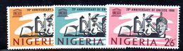 T931 - NIGERIA 1966 , Serie Yvert N. 200/202  ***  MNH - Nigeria (1961-...)