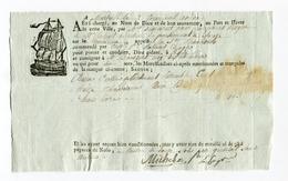 !!! CONNAISSEMENT DE MARSEILLE PERIODE REVOLUTIONNAIRE CHARGEMENT CHAPEAUX - Vieux Papiers