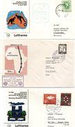 Lot De 3 Lettres  Poste Aerienne 1er Vol De Pays Divers - Vrac (max 999 Timbres)