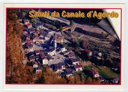 SALUTI  DA  CANALE  D' AGORDO   (BL)      MAXICARD    (NUOVA) - Italia