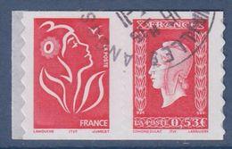 = Issu De Carnet Adhésif Paire Horizontale Oblitérée Marianne De Dulac 0.53€ Et Marianne De Lamouche Tvp P66 N°49a Et 66 - 1944-45 Marianne Of Dulac