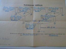 AV105.16 Table Of Origin Hungary  WWII  Military Noble FÜLEKI  Óbecse  Szarvas Törökbecse Zombor 1942 - Vieux Papiers
