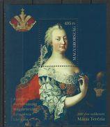 Hungary. Scott #  MNH S/sheet. Empress Maria Theresa. Joint Issue With Austria,Croatia,Slovenia  2017 - Gemeinschaftsausgaben