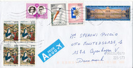 Belgium Cover Sent To Denmark 11-2-2012 With A Lot Of Stamps - Belgium