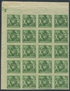 1703 - Liechtenstein - Sehr Seltener Probedruck Im Postfrischen Bogenteil - Liechtenstein