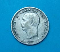 GREECE 1 DRACHMAI 1910 SILVER, 4.9 Gr. - Griekenland