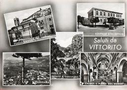 VITTORITO-L'AQUILA-SALUTI DA-VEDUTINE DEL PAESE-viaggiata - L'Aquila