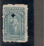 Canada1871: QUEBEC LAW STAMP....$1 - Canada