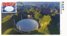 China 2017-23 (5-1)T Innovation In Sci & Technol -- 500M Aperture Spherical Radio Telescope SELF-MADE Maximum Card - B - Astronomy