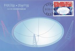 China 2017-23 (5-1)T Innovation In Sci & Technol -- 500M Aperture Spherical Radio Telescope SELF-MADE Maximum Card - D - Astronomy