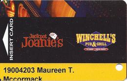 Jackpot Joanie's / Winchell's Pub & Grill - Las Vegas, NV - Casino Slot Card - Casino Cards
