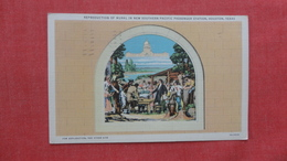 Mural- Gathering Of Colonists In 1823 On Colorado River N0t Far From  Bay City Texas   Ref 2691 - History