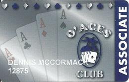 O'Aces Club - Las Vegas, NV - Casino Player Reward / Slot Card - Casino Cards