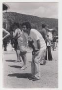 PHOTO PRESSE 9X13 / JOE DASSIN à La PETANQUE - OLYMPIADES EUROPE 1 - 1978 - Célébrités