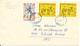 Bulgaria Cover Sent To Germany Rousse 11-11-1985 Topic Stamps - Bulgaria