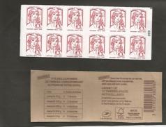 CARNET  1214 C 1a Avec Carré Noir Sur N° 099 - Usage Courant