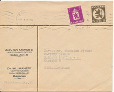 Bulgaria Cover Sent To Czechslovakia 28-7-1938 - 1909-45 Kingdom
