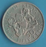 KENYA 50 CENTS 1968 Jomo Kenyatta - Kenya