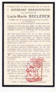 DP Oorlogsvluchteling WW I 14-18 Prefekte Kortemark Lucie M. DeClerck ° Gits Hooglede BE † Ivybridge Devon UK - Devotion Images