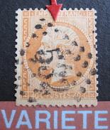 LOT R1631/1823 - NAPOLEON III N°23 - GC 532 : BORDEAUX - VARIETE ☛ Pointe Dépassant De La Chevelure - 1862 Napoleon III