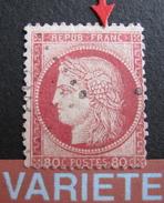 LOT R1631/1827 - CERES N°57 - LGC - VARIETE ☛ Filet Nord Brisé Au Dessus Du A De FRANC - 1871-1875 Ceres