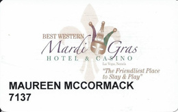 Best Western Mardi Gras Casino - Las Vegas, NV - Slot Card - Casino Cards