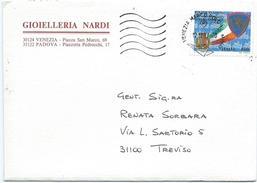 Italia, Italy 1997; Stemmi Della Polizia Stradale, Coats Of Arms Of Traffic Police. Storia Postale, Annullo Di Arrivo. - Briefmarken