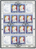 Sao Tome E Principe, 1981, Picasso, International Year Of The Child, IYC, United Nations, Cancelled Sheet, Michel 714A - Sao Tome Et Principe