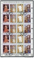 Sao Tome E Principe, 1981, Picasso, International Year Of The Child, IYC, United Nations, Cancelled Sheet, Michel 715-18 - Sao Tome Et Principe