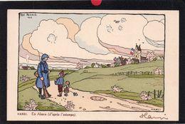 ALSACE.1915.ILLUSTRATEUR HANSI.AUTOGRAPHE SIGNATURE .EN ALSACE D'APRES L'ESTAMPE.2 SCANS. - Hansi