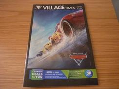 Cars 3 Disney Pixar Cinema Movie Program Programme From Greece - Programmi