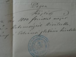 AV106.10  GLATZ FERENC  Opera Singer   Paid  Military Service  With 1000 Forints  1876 - Fiançailles