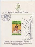 Republica De HONDURAS :1980: Y.PA653: ## ACCEPTED MASTERPROOF ## :  WOMAN,LADY,V. PADILLA,CLOTHES,HEADGEAR,HISTORY, - Honduras