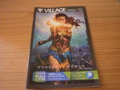 Wonder Woman Cinema Movie Program Programme From Greece - Programmes