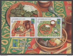 AZERBAIJAN, 2016 ,MNH, JOINT RCC ISSUE,FOOD, NATIONAL CUISINES,   S/SHEET - Joint Issues