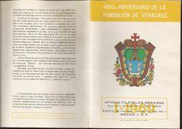 J) 1969 MEXICO, 450th ANNIVERSARY OF THE VERACRUZ FOUNDATION, EMBLEM, FDB - Mexico