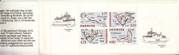 Denmark MNH Scott #1025a Booklet 2 Panes Of 4 Danish Islands - Iles