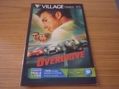 Overdrive Cinema Movie Program Programme From Greece - Programmes