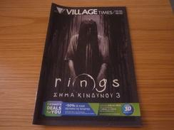 Rings 3 Cinema Movie Program Programme From Greece - Programmes