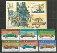 Vehicules Anciens Célèbres: Panhard,Bugatti,Mercedes-Benz,Lincoln,Chevrolet,Duesenberg,etc. Série + B-F Neufs ** - Coches