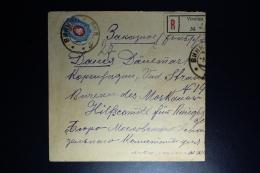 Russia: Registered Cover Vinnitza (Ukraine) 1916 To  Red Cross Copenhagen Wax Sealed Censor Cancelled - Briefe U. Dokumente