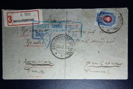 Russia: Registered Cover Mykhailovkoe 1916 To Red Cross Copenhagen Part Removed At Back Censor Cancelled - 1857-1916 Empire
